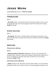 Writers Resume. Jesse Werk jessewerk@live.ca (778)997-4886 ...