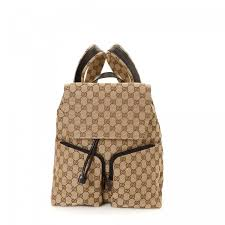gucci backpack. lxrandco guarantees this is an authentic vintage gucci backpack. signature book bag in beautiful beige made gg canvas. due to the nature backpack