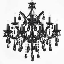 chandelier interesting black crystal chandeliers lighting part 11