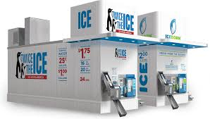 Self Serve Ice Vending Machines Near Me Mesmerizing House Kiosk And Express Our Ice Water Vending Models