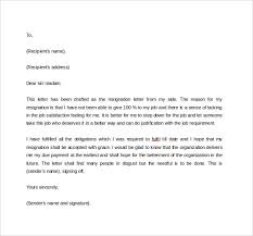 Formal Resignation Letter Example 42 Formal Resignation Letters Templates In Pdf Word
