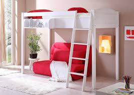 Small Bedroom Couch Deliberate White Polished Wooden Carpenter Made High Beds With Red