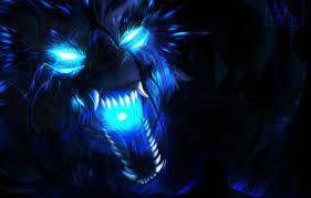 Wallpaper face, wolf, predator, mouth ...