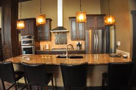 Brown Granite Countertops Kitchen Island Marble Countertop Glass