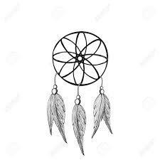 Native Dream Catchers Drawings Dreamcatcher Feathers And Beads Native American Indian Dream 42