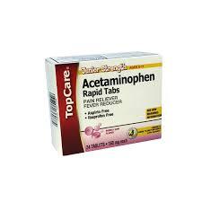 Topcare Junior Strength Acetaminophen 160 Mg Rapid Tabs Pain