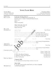 Student Examples Collge High School Resume Objective College Cv