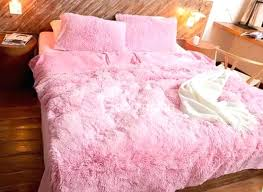 fluffy bed sheets full size solid pink princess style 4 piece fluffy bedding sets duvet cover