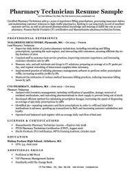 Pharmacy Tech Resume Template Pharmacy Technician Cover Letter Sample Guide
