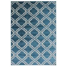 moroccan style rug with geometric lattice pattern – soft