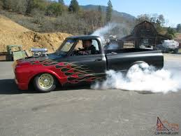 Chevy shortwide, Blower, Matte black w/Red flames