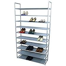 Home Basics 10 Tier Coated Non Woven Shoe Rack Amazon Halter 100 Tier Stainless Steel Shoe Rack Shoe Storage 72