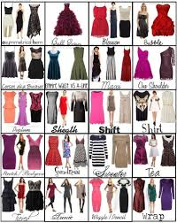Types Of Design In Fashion Ebay Dress Types Chart Types Of Dresses Styles Fashion