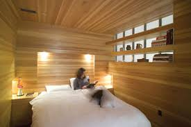 Small Picture Entirely Wood Unusually Warm Bedroom Interior Design