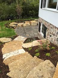 flagstone landscaping. Flagstone Steps And Outcropping Flagstone Landscaping