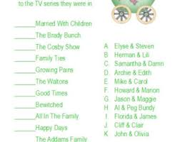 Famous Parents Game  EtsyFamous Mothers Baby Shower Game