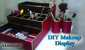 diy makeup display storage close to free with recycled materials you