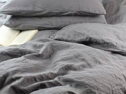 stone washed linen bedding. Contemporary Stone Stonewashed Linen Duvet Cover Lead Gray And Stone Washed Bedding O