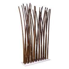 bamboo room divider on white steel base plate  x  cm