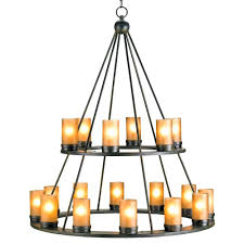 chandeliers black wrought iron rustic lodge tiered 18 light candle chandelier kathy kuo home black