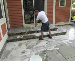 how to clean a patio bluestone patio