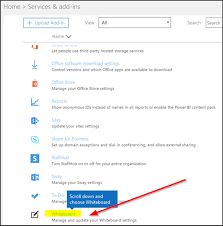 How To Enable Microsoft Whiteboard For Office 365