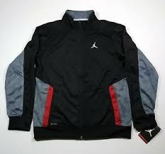 Nike Boys Clothing Size Chart Details About Nike Air Jordan Retro Dri Fit Boys Jacket Youth Size Xl 13 15yrs Black New