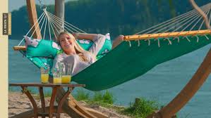 la siesta hawaii double hammock with spreader bars and integrated pillow