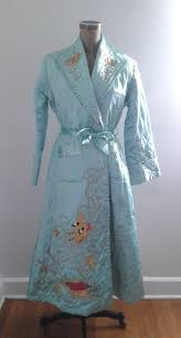 Vintage 1940's Baby Blue Quilted Satin Robe Chinese Dragon ... & Vintage 1940's Baby Blue Quilted Satin Robe Chinese Dragon Embroidery Sz  Small Med Asian Boudoir Loungewear Adamdwight.com