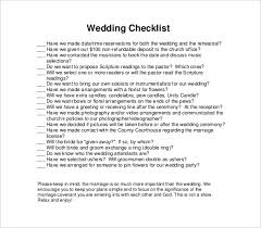 wedding checklist templates 11 wedding checklist templates free sample example format