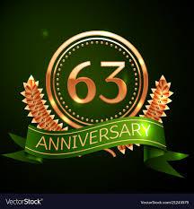 Sixty Design Sixty Three Years Anniversary Celebration Design