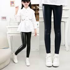 children clothing girls pu leather pants leggings