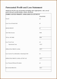 Profit And Loss Statments Profit Loss Statement Template Self Employed Profit And Loss Report