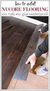 how to install nucore flooring no nails or glue required installs over most existing