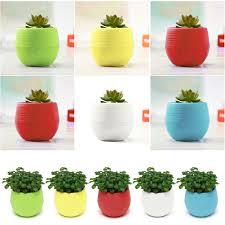 office flower pots. 7cm Mini Round Plastic Flower Pot Plant Planter Basket Garden Home Office Decor Pots