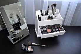 View in gallery Shelf-top makeup storage solution