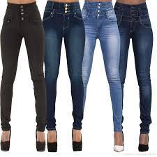 Designer High Waisted Skinny Jeans 2019 Black Blue High Stretch Skinny High Waisted Jeans Womens Fashion Slim Designer Best High Rise Denim Jeggings Casual Jean Pants For Ladies From