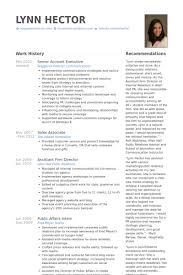 Senior Account Executive Resume samples