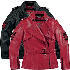 icon 1000 federal womens jacket jackets leather red icon leather riding jackets whole dealer