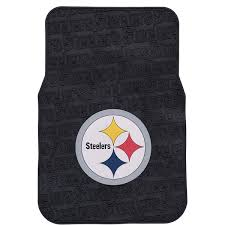 the best nfl car accessories include the pittsburgh steelers car mats