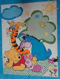 44 best PIGLET BLANKET images on Pinterest | Baby pig, Quilt and ... & WINNIE the POOH Fabric - Pooh Piglet Eeyore Quilt Blanket Wall Hanging  Cheater Panel OOP Adamdwight.com