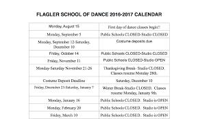 Annual Calendar 2015 Annual Calendar Flagler School Of Dance