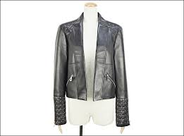 unread items versace versace studded leather jacket nero black metal gold g33890 g602223 leather size 44 women s used rank s