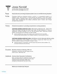 Certified Nursing Assistant Resume Objective Examples Icu Nurse
