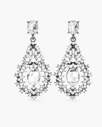 haylee diamante chandelier earrings