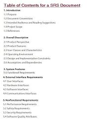 Requirement Analysis Template Best Software Requirements Specification Document With Example Krazytech