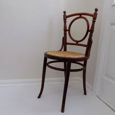 circa 1900 antique fischel cane seat wood chair from austria bentwood furniture thonet style