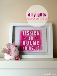 >d i y gifts personalised wall art for baby girl made by molu commissioned work for another new baby this time for a little girl i was really pleased to have been asked to make this after the first one received