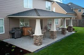 ideas covered patio plans or large size of patio outdoor building a roof over a patio