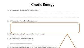 energy calculations worksheet gcse physics worksheet kinetic energy definition formula qa printable